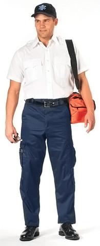 Midnight Navy Blue EMT Pants - Model View