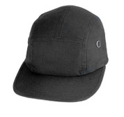 Adventure Black Street Cap - Ripstop Cotton
