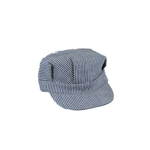 Hickory Striped Engineer Cap - View