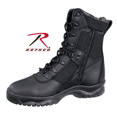 Tactical Forced Entry Boot - Side Zipper View