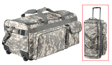 Shop digital camo expedition wheeled travel bag fatigues army navy gear for Travel expedition gear