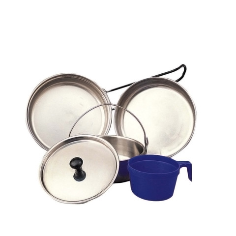 Rothco Stainless Steel 5 Piece Mess Kit - Full View