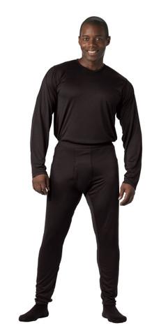 Black GEN III Silk Weight Underwear Tops - View
