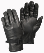 D-3A Military Black Leather Gloves - View
