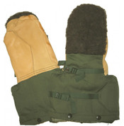 Military Extreme Cold Weather Leather Mittens