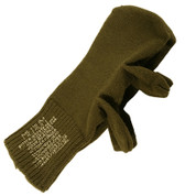 Military Wool Trigger Mittens - View
