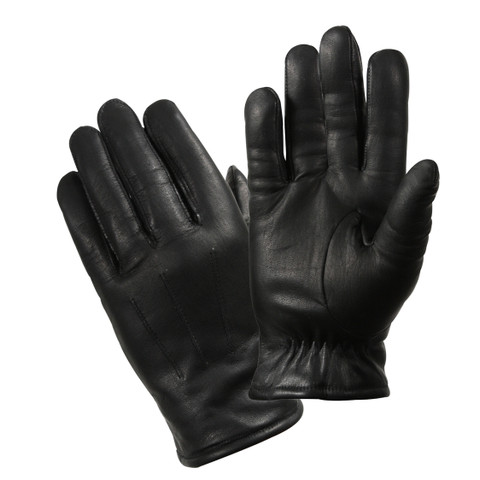 Cold Weather Thermoblock Leather Police Gloves - Pair View