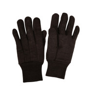Brown Cotton Jersey Work Gloves - View