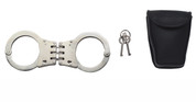Deluxe Nickel Plated Hinged Handcuffs