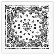 White Trainman Bandana