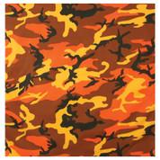 Savage Orange Camo Bandana - Bandanas