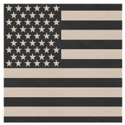 Subdued U.S. Flag Bandana - Khaki/Black