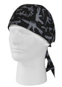 Black Gun Pattern Print Headwrap