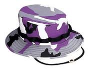 Purple Camo Jungle Hat