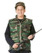 Kids Camo Woodland Rangers Vest - Closeup View
