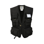 Kids Black Safari Adventure Vest - Front View