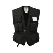 Kids Black Safari Adventure Vest - Front View