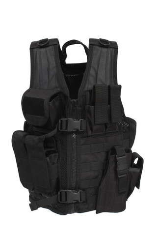 Kids SWAT Tactical Cross Draw Vest - Front View