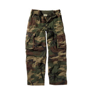 Vintage Kids Camo Paratrooper Fatigue Pants - Full View