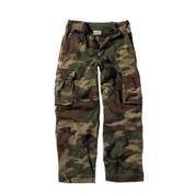 Vintage Kids Camo Paratrooper Fatigue Pants - Full View