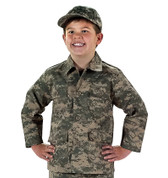 Kids Army ACU Digital Camo Jackets - Detail View