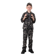 Kids Subdued Urban Digital Camo Pants - Full View