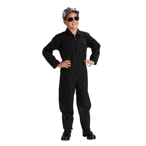 Kids Tactical S.W.A.T. Black Flight Suits - View