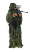 Kids Camo Lightweight Ghillie Suit - Full View Detail