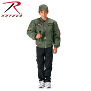 Kids Top Gun Sage MA-1 Flight Jacket - Rothco View