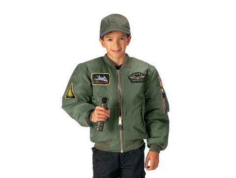 b3335d60d1331 Shop Kids Top Gun MA 1 Flight Jackets - Fatigues Army Navy