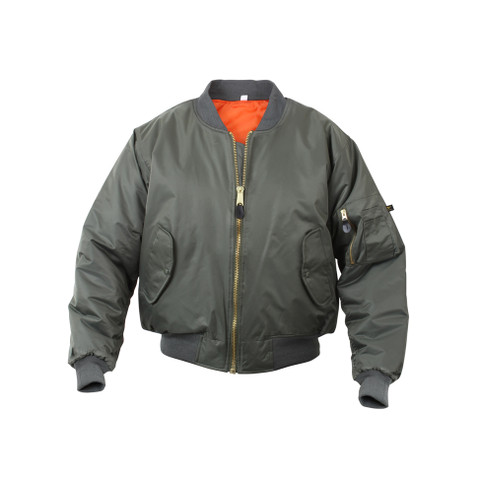Kids Sage MA-1 Flight Jacket - View