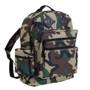 Kids Camo Gear Woodland Deluxe Nylon Backpack - Right Side View