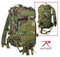Kids Army Camo Woodland Combat Backpack - Complete View