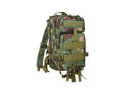 Kids Army Camo Woodland Combat Backpack - Front View