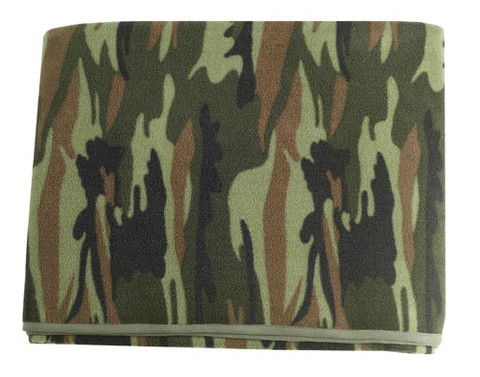 Kids Camo Fleece Blankets - Flat View