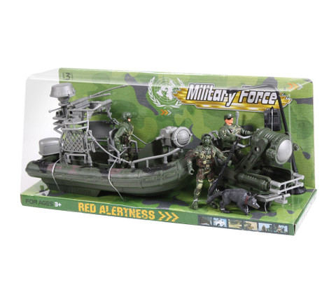 Kids Military Forces Amphibious Toy Play Set - Boxed View