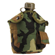 Kids Army Woodland Camo Canteen Kit - View