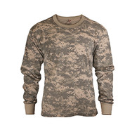 Kids Army Digital ACU Camo Long Sleeve T Shirt - Image View
