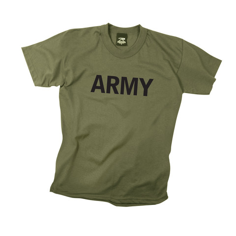 """Kids """"Army"""" Olive T Shirt - View"""