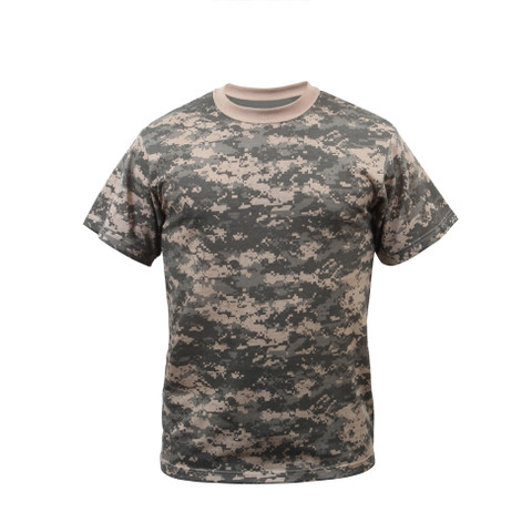 Kids Camo ACU Digital Camo T Shirt - Front View