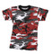 Kids Red Camo T Shirt - Flat View