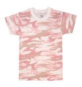 Kids Baby Pink Camo T Shirt - View