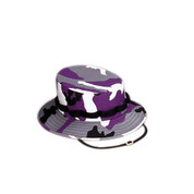 Kids Purple Camo Jungle Hat - View