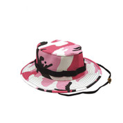 Kids Pink Camo Jungle Hat - View