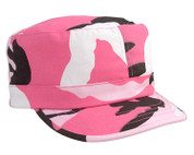 Kids Pink Camo Fatigue Cap - View