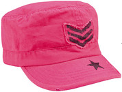 Kids Vintage Pink SGT Stripe Fatigue Cap - View