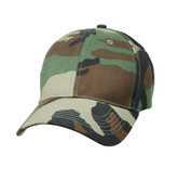 Kids Camo Woodland Low Profile Cap - View