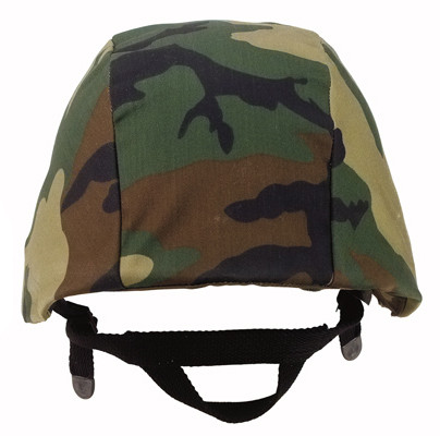 Kids Camo Woodland Helmet Cover - View