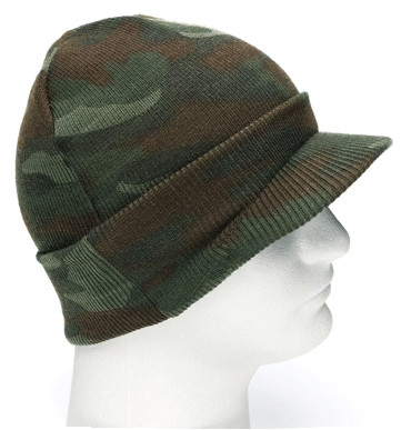 Kids Camo Woodland Jeep Cap - View