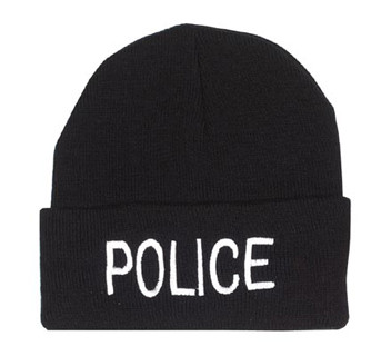 Kids Police Watch Caps - View